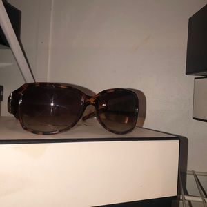 Bifocals sunglasses brown with faux crystal